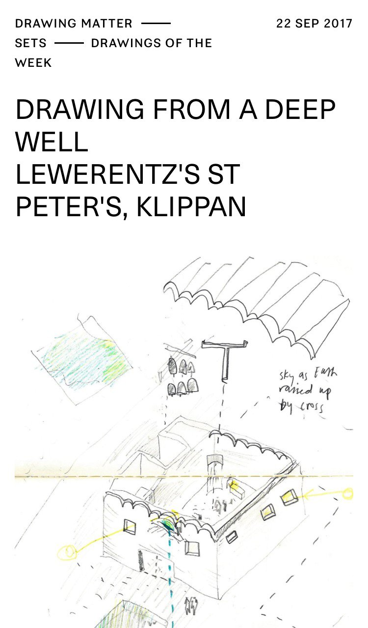 Drawing from a deep well Lewerentz's St Peter's, Klippan