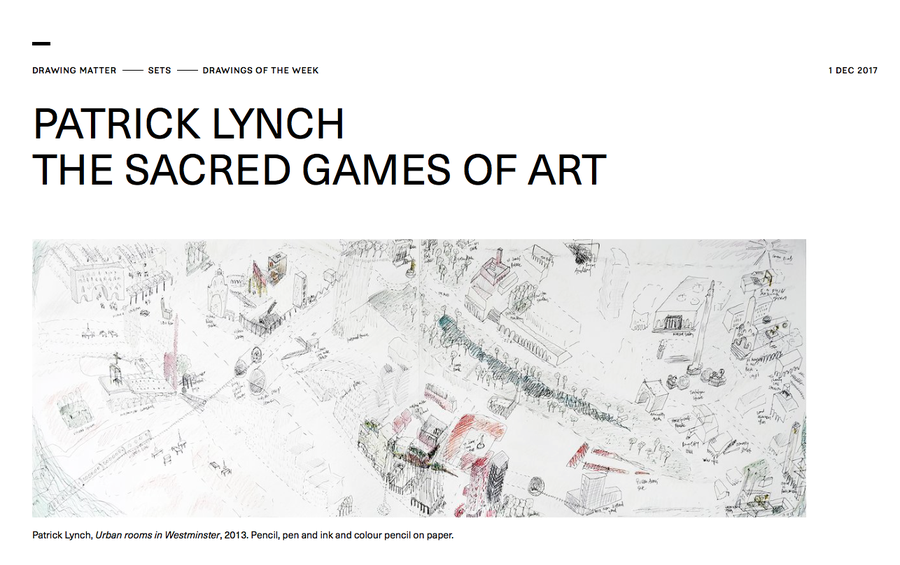 PATRICK LYNCH THE SACRED GAMES OF ART